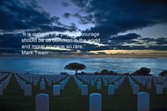 #MarkTwain quote in this #quotograph and scene at #RosecransMemorialCemetary Pt. Loma