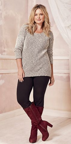 Is this outdated? Maybe replace the boots with my booties? Might not do an oatmeal color sweater but something in the neutrals