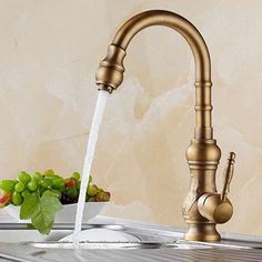 Free shipping Antique bronze finish Kitchen faucets kitchen tap basin faucets single hand hot and cold wash basin tap HJ-1558F