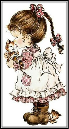 Sarah Kay - One of my favourite cats growing up was Timmy. Sarah Key, Holly Hobbie, Sara Key Imagenes, Cute Images, Cute Pictures, Hobbies For Women, Hobby Horse, Sunbonnet Sue, Cute Illustration