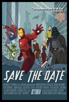 I hope this Save the Date card is for a nerd-themed wedding. For THAT, I would save the date.