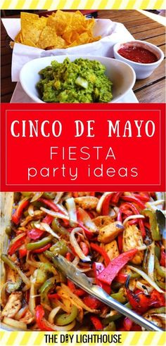 Cinco de Mayo party ideas! Food, decorations, desserts, and drink ideas for your Fiesta party!
