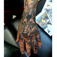 "German Shepherd tattoo ""Mirka"" by James at Old"