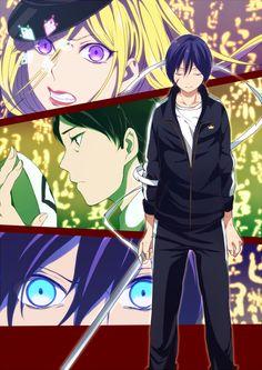 ebisu and yato - Bing images Anime Noragami, Yato And Hiyori, Moe Anime, Manga Anime, The Darkness, Otaku, Yatori, Fairy Tail Love, Tokyo Ghoul