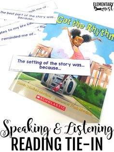 Speaking and listening during reading. Speaking and listening read alouds task card activity. Fluency Activities, Listening Activities, Grammar Activities, Active Listening, Vocabulary Games, Listening Skills, Common Core Curriculum, 2nd Grade Reading, New Teachers