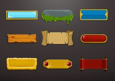 UI  UIX elements for videogames by Paolo Ertreo, via Behance