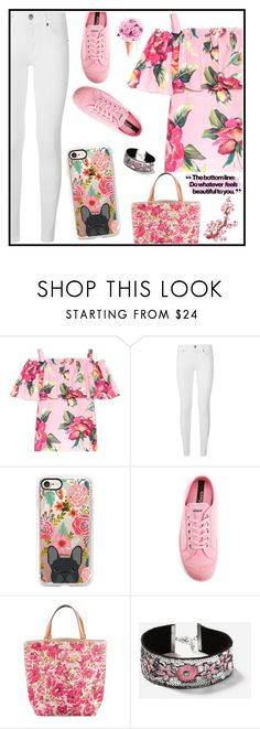 """""""Casetify Giveaway"""" by tlb0318 ❤ liked on Polyvore featuring Dolce&Gabbana, Burberry, Casetify, Novesta, Kate Spade and Topshop"""
