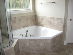 corner garden tub perfect for soaking in peace ceramic tile surround bathroom renovationsbathrooms decorbathroom ideascorner