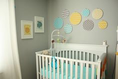 Gender neutral nursery colors- Definitely leaning towards turquoise, mustard, and grey!