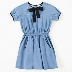 Talc Blue Bow Dress #ladida #ladidakids ladida.com