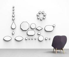 Abstrakcyjne lustra jako ozdoby ścienne  more: http://7rano.com/post/83499875823/abstrakcyjne-lustra-jako-ozdoby-scienne