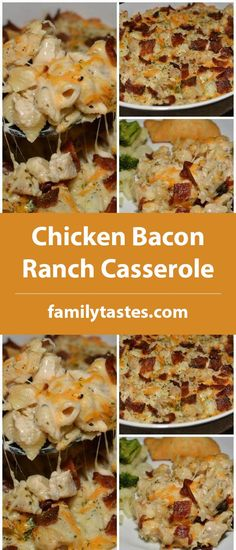 Chicken Bacon Ranch Casserole – Family Tastes – Famous Last Words Bacon Ranch Potatoes, Chicken Bacon Ranch Casserole, How To Cook Pasta, How To Cook Chicken, Holiday Recipes, Dinner Recipes, Casserole Recipes, Chicken Recipes, Cooking Recipes