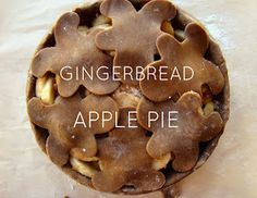 Gingerbread Apple Pie- used Alton Brown recipe for filling, crust was very soggy but still tasty