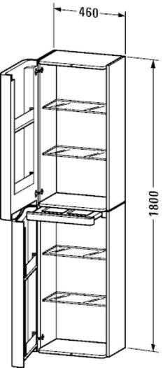 PuraVida Tall cabinet #PV9206 L/R   Duravit