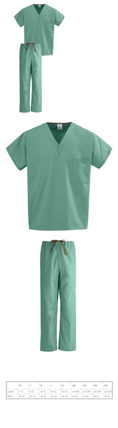 00a62f5b0d7 Sets 105432: Medline, 100% Cotton, Unisex, Two-Pocket, Jade Color,  Reversible Scrub Set -> BUY IT NOW ONLY: $20.2 on #eBay #reversible #scrub