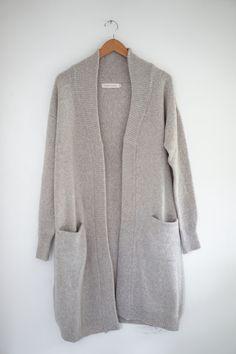 Micaela Greg - Oatmeal Duster Cardigan, merino wool