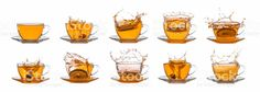 Tea splash collection stock photo 67832929 - iStock