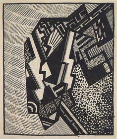 Helen Saunders Ile de / Island of Laputa Feutre, encre et collage sur papier / Pen, ink and collage on paper 27 x 23.2 cm 1915