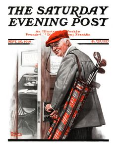 Important Business Saturday Evening Post Cover, September 20,1919 Giclee Print by Norman Rockwell