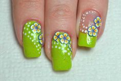 Summer floral nail art :: one1lady.com :: #nail #nails #nailart #manicure