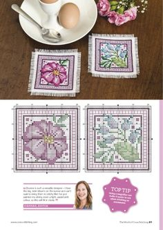 Gallery.ru / Photo # 61 - April 2019 - BelleBlue Cross Stitch Flowers, Cross Stitch Patterns, How To Make Paint, Easy Paintings, Canvas Patterns, Pastel Pink, Cross Stitching, Decorative Plates, Outdoor Blanket
