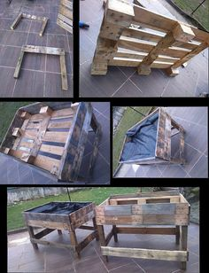 Tuto Potager Palette The post Tuto Potager Palette appeared first on Pallet Diy. Vertical Pallet Garden, Herb Garden Pallet, Pallets Garden, Vegetable Garden, Potager Garden, Aquaponics System, Aquaponics Diy, Garden Projects, Diy Projects