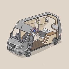 lifer did a sketch of our conversion. Even got the kettle in the … Vanessa Worrall.lifer did a sketch of our conversion. Even got the kettle in there. Top work that chap. Go check his account and grab a doodle of… - Creative Vans Vw T1 Camper, Camper Life, Campers, Bus Life, Motorhome, Accessoires Jeep, Kombi Home, Van Home, Camper Van Conversion Diy