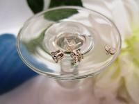 Genuine White Topaz Stud Earrings Sterling Silver Post Earrings