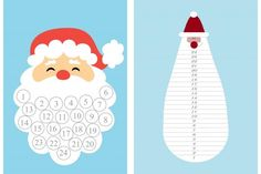 Christmas countdown Preschool Christmas, Christmas Crafts For Kids, Christmas Printables, Christmas Fun, Christmas Greeting Cards, Christmas Greetings, Gingerbread Man Coloring Page, Multiplication Activities, Snow Activities