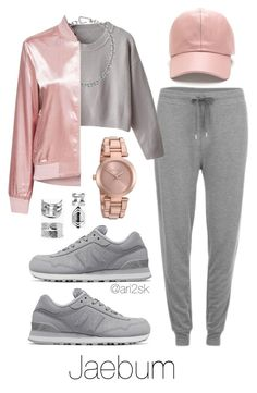 Fly - Jaebum  by ari2sk on Polyvore featuring polyvore, fashion, style, New Balance, Michael Kors, Boohoo, Calvin Klein and clothing