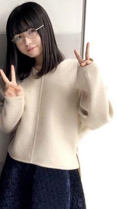 Cute Asian Girls, Beautiful Asian Girls, Beautiful Women, Bao Buns, Star Beauty, School Girl Outfit, Japan Girl, Girls With Glasses, Japanese Beauty