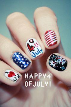 4th of july nails. juli nail, firework, fourth of july, nail art designs, nail designs, nail art ideas, nail arts, 4th of july, nail idea