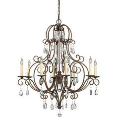 "Chateau Mocha Bronze Eight-Light Chandelier Dimensions: 32""W x 37 1/2""H $884"