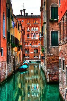 Venice, Italy A wonderful photograph of Venice.  The colors are bright and the reflection in the canals are stunning.