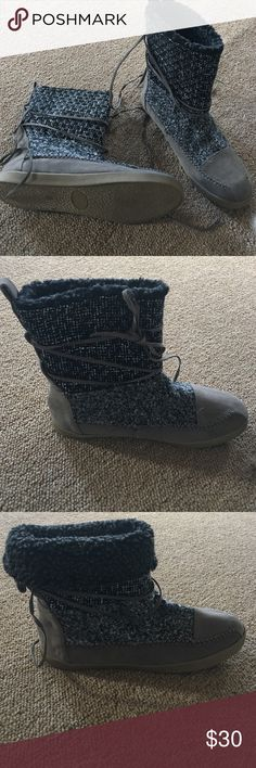 Brand New Steve Madden Moccasin Boots Brand New never worn Steve Madden Moccasin Boots Greyish Brown Tags not attached but I have box Steve Madden Shoes Moccasins