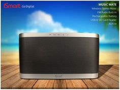 iSmart - MUSIC MATE  Wireless Stereo Music FM Radio Built-In Rechargeable Battery USB & SD Card Reader AUX-In
