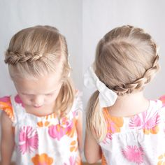 Dutch braid pancaked into a side ponytail