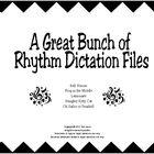 Rhythmic dictation printables perfect for notating the rhythm bell
