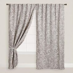 One of my favorite discoveries at WorldMarket.com: Gray Adelaide Concealed Top Curtains Set of 2 @goldeer go gray with graphite and graphics ... ???