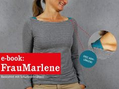Nähanleitungen Mode - FrauMARLENE Basicshirt für Damen, ebook - ein Designerstück von schnittreif bei DaWanda