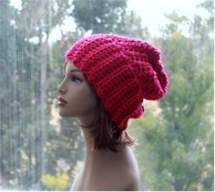 Check out this item in my Etsy shop https://www.etsy.com/listing/258526223/slouchy-hat-hot-pink-toque-womens-teens