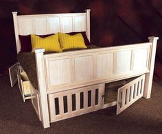 dog crate under bed