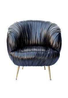 Love her new line of furniture.  Amazing!  Souffle Leather Chair. Kelly Wearstler.
