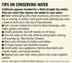 Please conserve your water usage NOW!!! (2014)