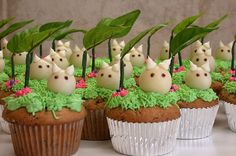 totoro cupcakes! by le fluff le puff