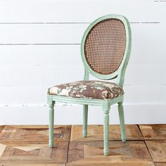 Rose Print Cane Back Dining Chair