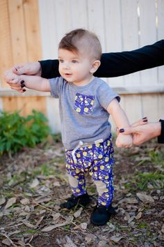 Shirt and Harem Patch Pants I Dig You Outfit by PickeeKids on Etsy