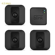 Blink XT Outdoor/Indoor Home Security Camera System for Your Smartphone with Motion Detection Wall Mount HD Video 2 Year Battery and Cloud Storage Included  3 Camera Kit #homesecurityideas #homeimprovementalarmedbyburglars, #homesecuritysystemmonitor
