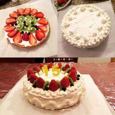 Baked my brother a birthday cake for his party!  #homemade #birthdaycake #baking #cake #手作り #バースデーケーキ #ホームメイド #ホームメイドケーキ