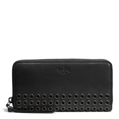 The Bleecker Grommets Accordion Zip Wallet In Leather from Coach